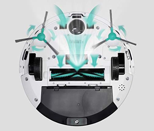 Robot aspirador Trifo Ironpie M6 visto por debajo