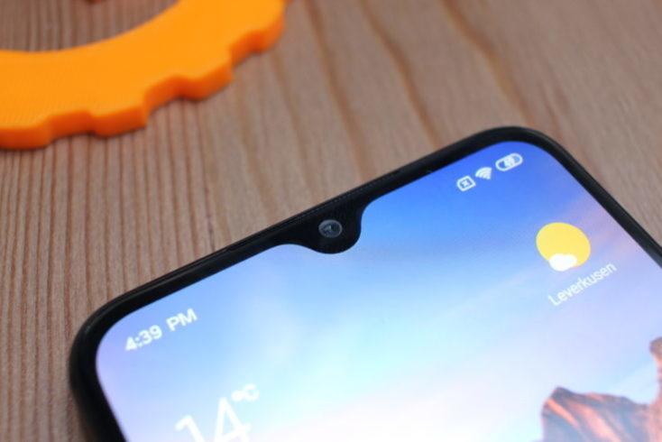 Notch de gota de agua del Xiaomi Mi 9 SE