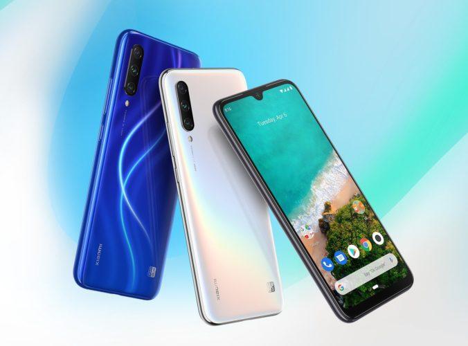 Xiaomi Mi A3 azul, blanco y negro