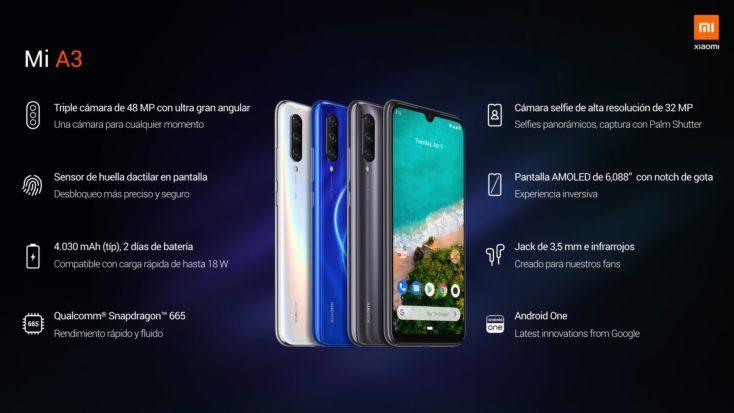 Especificaciones Xiaomi Mi A3