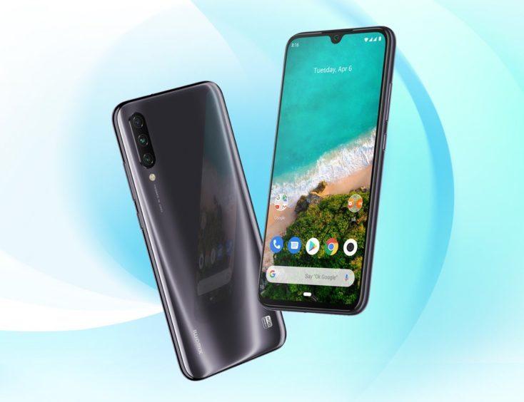 Diseño del Xiaomi Mi A3 negro
