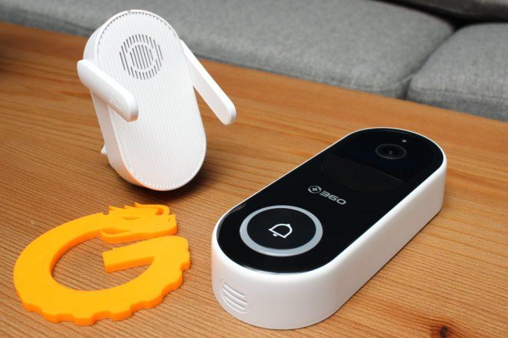 Timbre inteligente 360 D819 y su dispositivo base