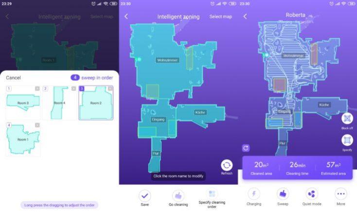 Configuración del orden de limpieza de las habitaciones en la App