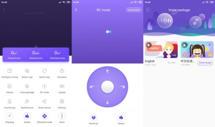 Funciones de la App 360 S7