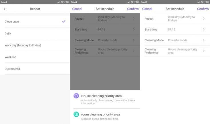Programar horarios de trabajo en la App