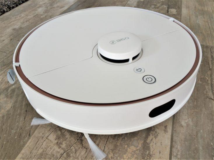 Diseño del robot aspirador 360 S7 por delante