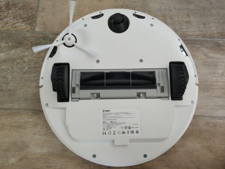 Parte de abajo del robot aspirador