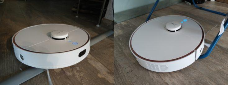 Robot sobre umbral de la puerta y el tendedero