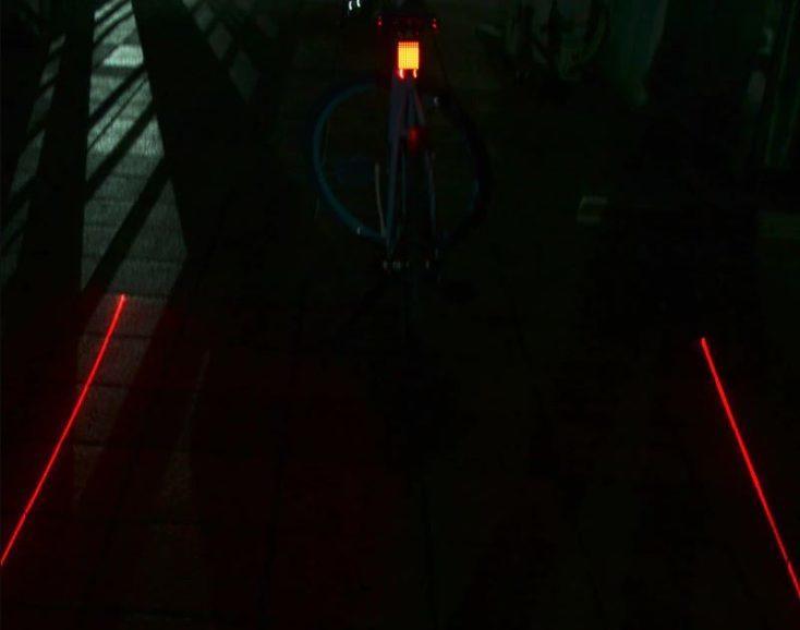 Líneas láser de la luz inteligente para bicicleta