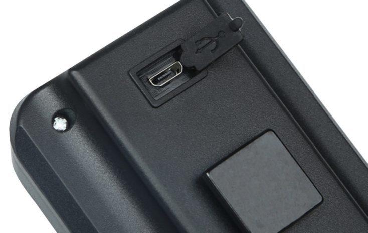 Puerto micro USB de la luz inteligente para bicicleta