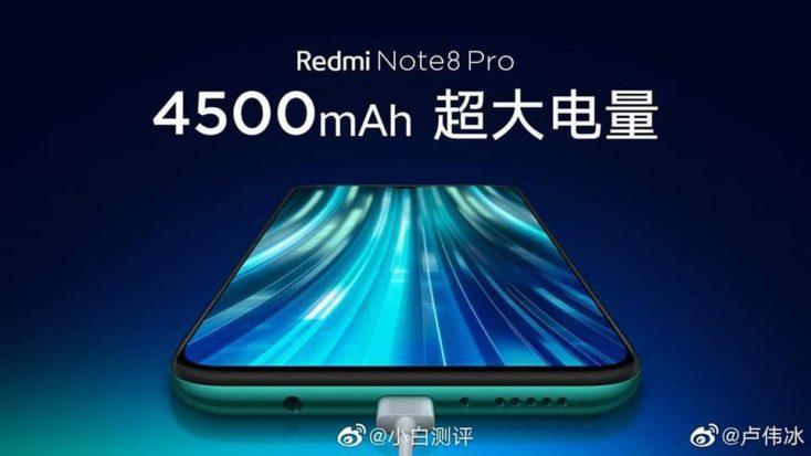 Redmi Note 8 Pro con batería de 4500 mAh