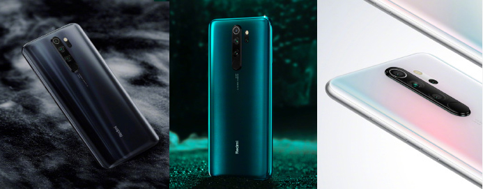 Colores disponibles del Redmi Note 8 Pro