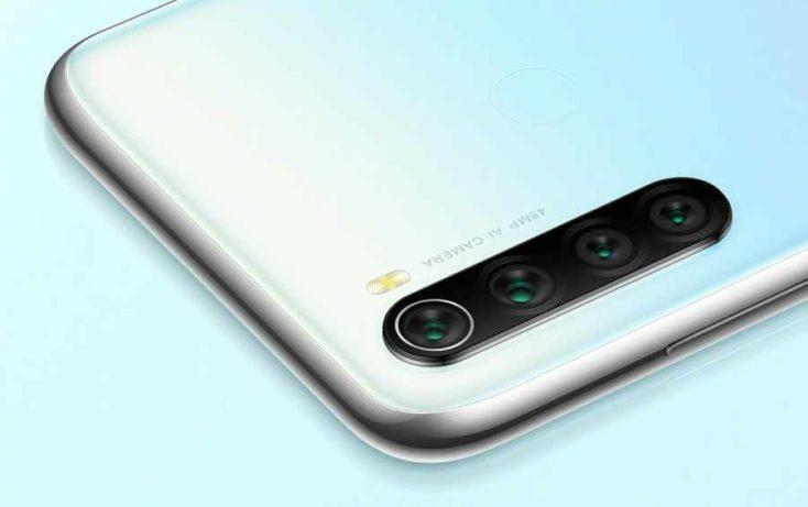 Redmi Note 8 en blanco