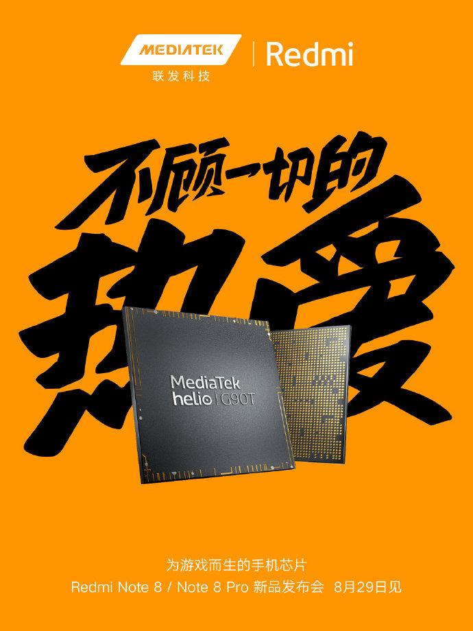 Redmi Note 8 Pro con CPU MediaTek