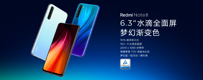 Colores disponibles del Redmi Note 8