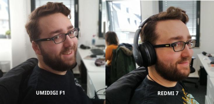 Modo retrato Julian cámara porincipal UMIDIGI F1 y Redmi 7