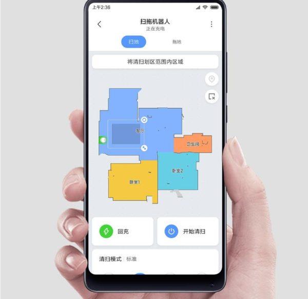 Distribución de habitaciones en la App