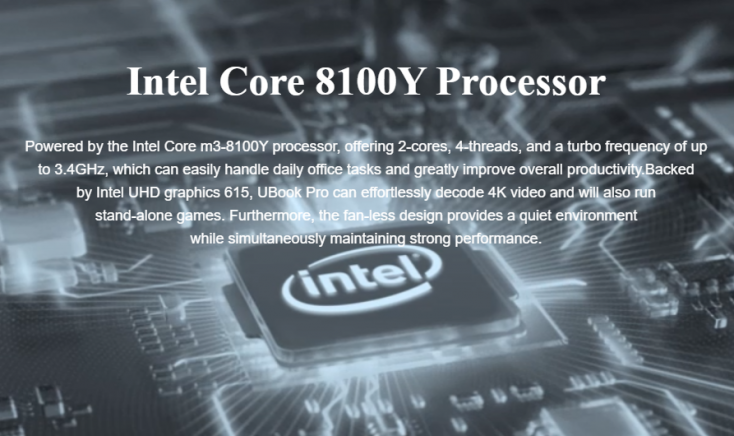 Procesador Intel Core M3-8100Y