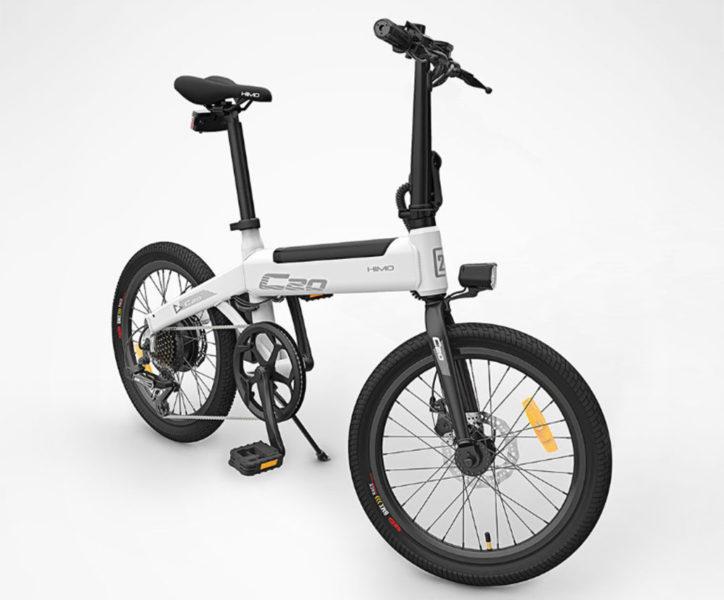 Bicicleta eléctrica HIMO C20 en blanco
