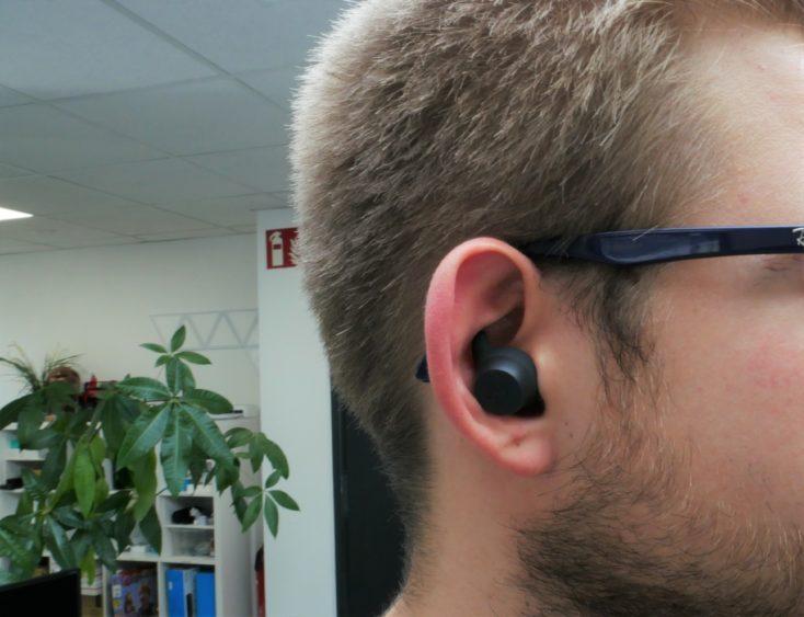 Havit G1 Pro en la oreja