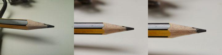 Fotos con el zoom y la cámara macro de un lápiz