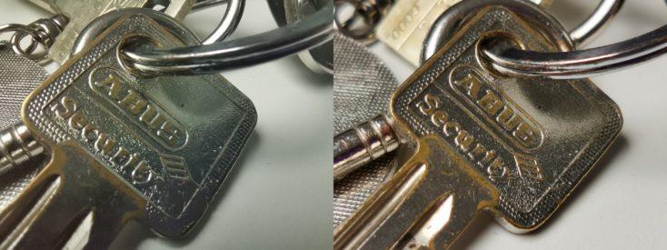 Foto macro vs. foto con zoom de llaves
