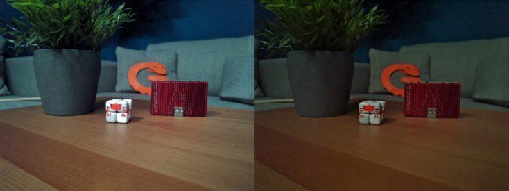 Fotos de prueba con el modo nocturno y el modo normal