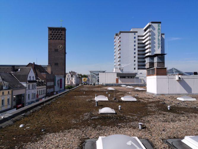 Foto de prueba del tejado con la tablet