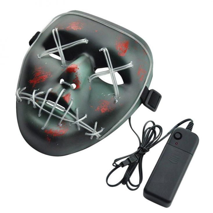 Máscara LED de neón apagada