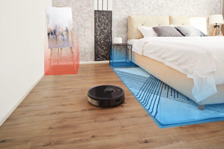 Roborock s5 max en el dormitorio