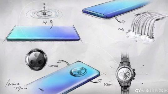 Bocetos del diseño del Vivo Nex 3