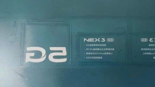 Imagen filtrada de las especificaciones del Vivo NEX 3
