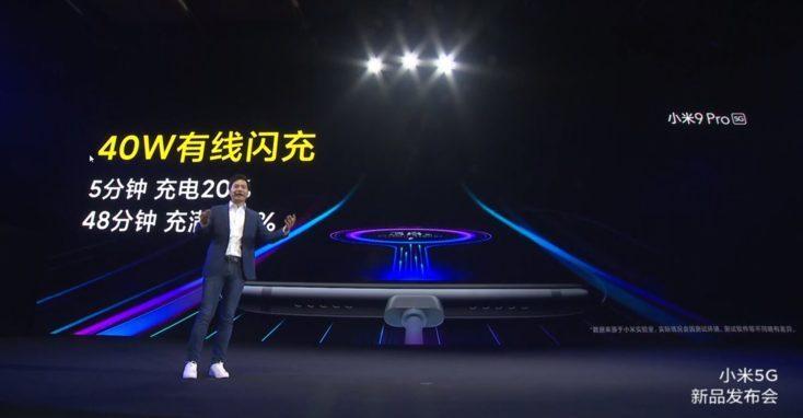 Carga de 40W del Xiaomi Mi 9 Pro