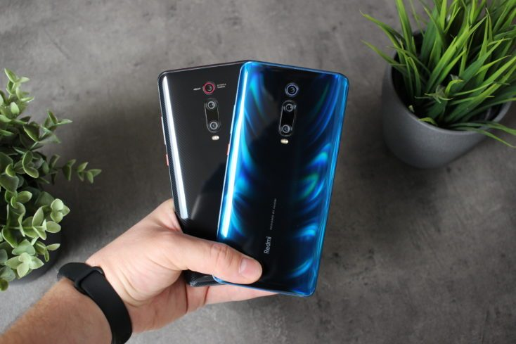 Parte trasera del Redmi K20 Pro y del Xiaomi Mi 9T