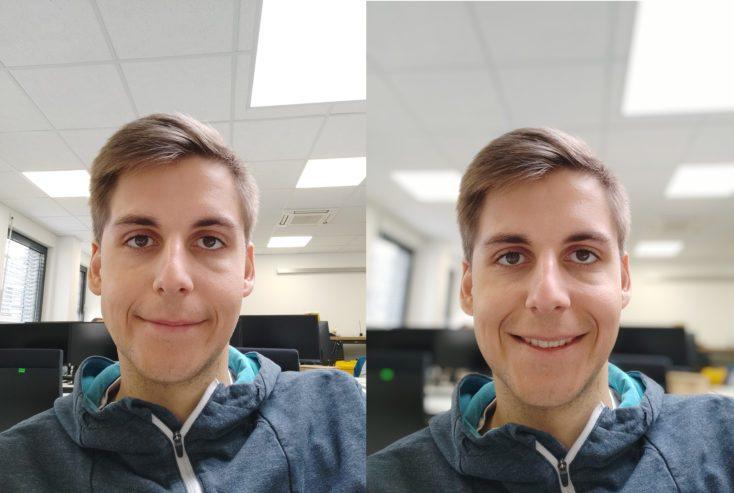 Foto de prueba con la cámara frontal