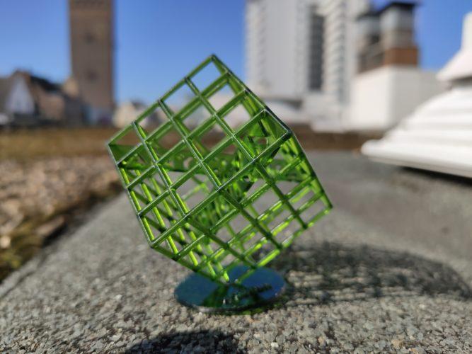 Foto de una impresión 3D con la cámara principal