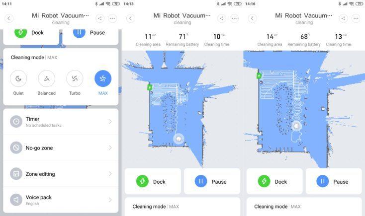 Ajustes de mapeo de la App del Mi Robot 1S