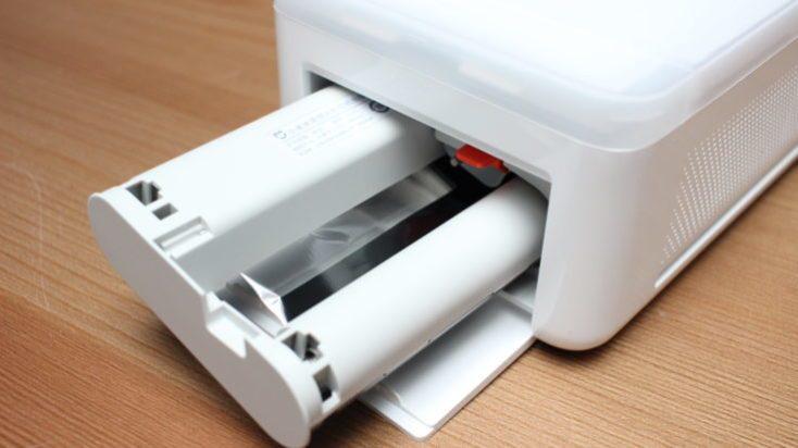 Interior de la impresora para fotos Xiaomi Mijia