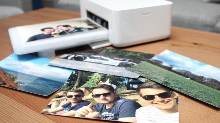 Impresora para fotos Xiaomi Mijia con fotos de prueba