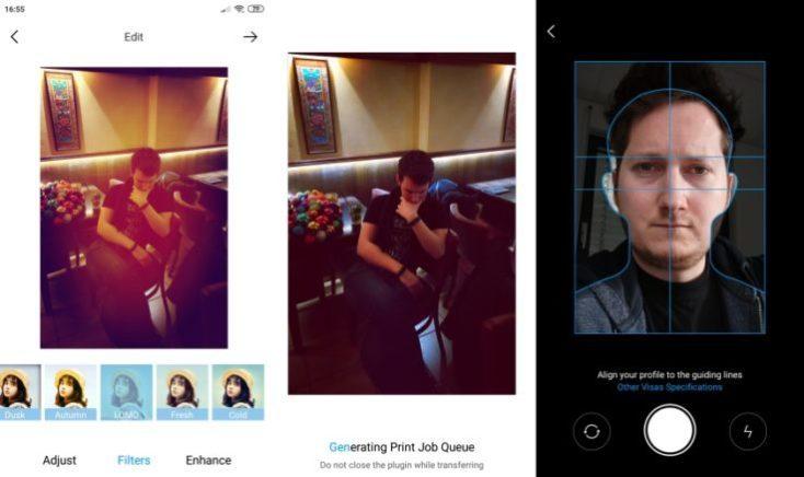 Edición de las imágenes desde la aplicación de la impresora Xiaomi Mijia