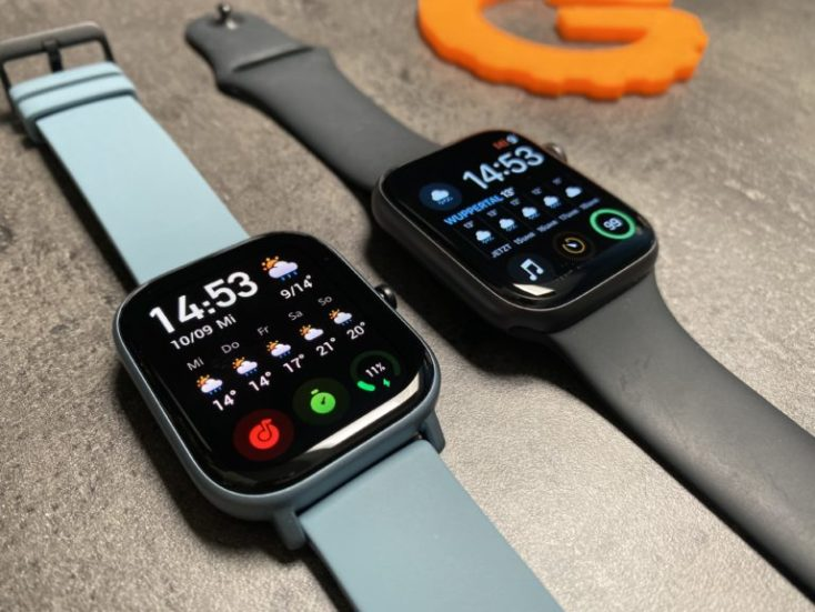 Amazfit GTS y Apple Watch
