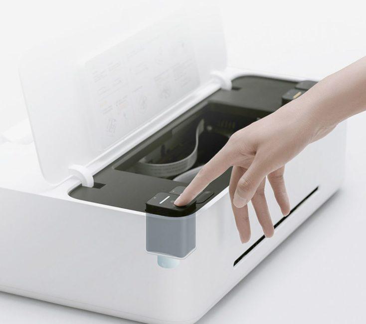Cartuchos en el interior de la impresora Xiaomi