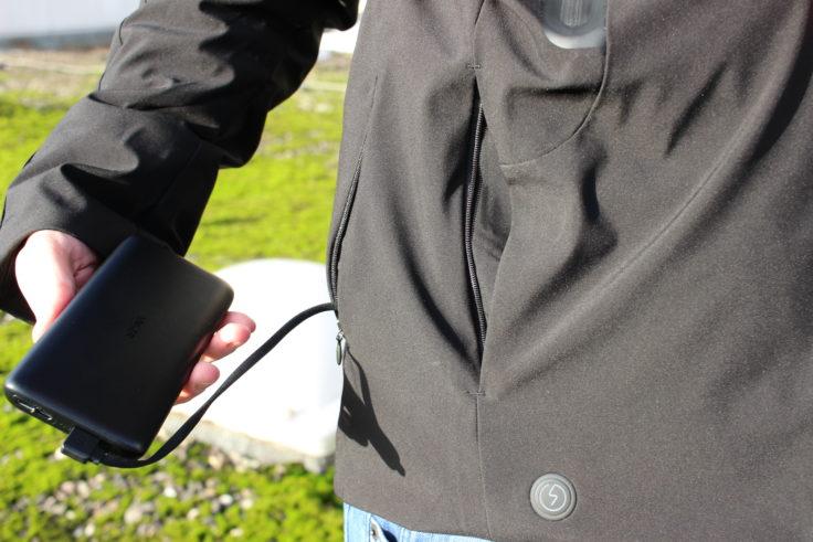 chaqueta de plumas 90FUN con sistema de calefacción con batería externa
