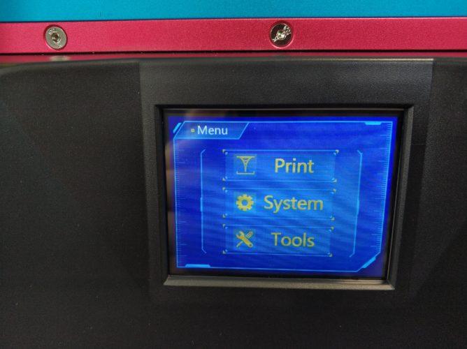 Menú en la pantalla táctil de la impresora