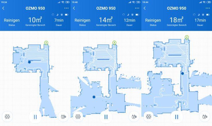 Mapeo y recorrido del robot mostrado en la app