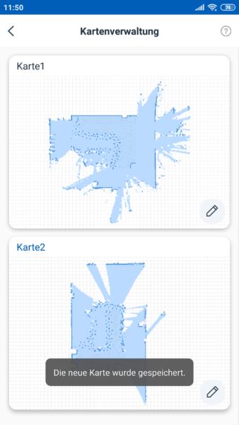 Almacenamiento de varios mapas en la aplicación