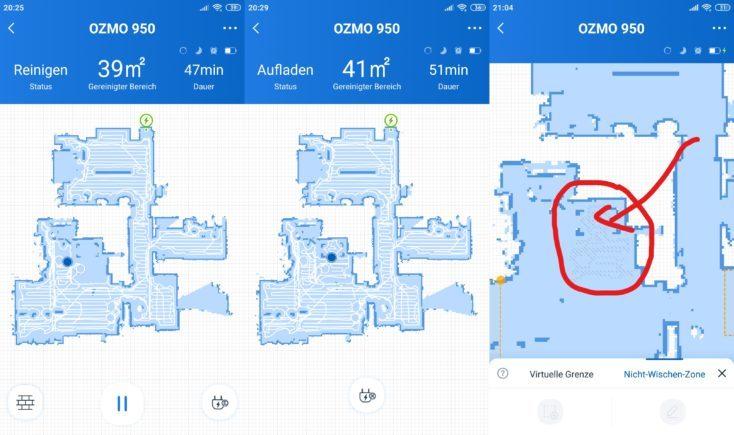 Mapas del robot aspirador en la aplicación