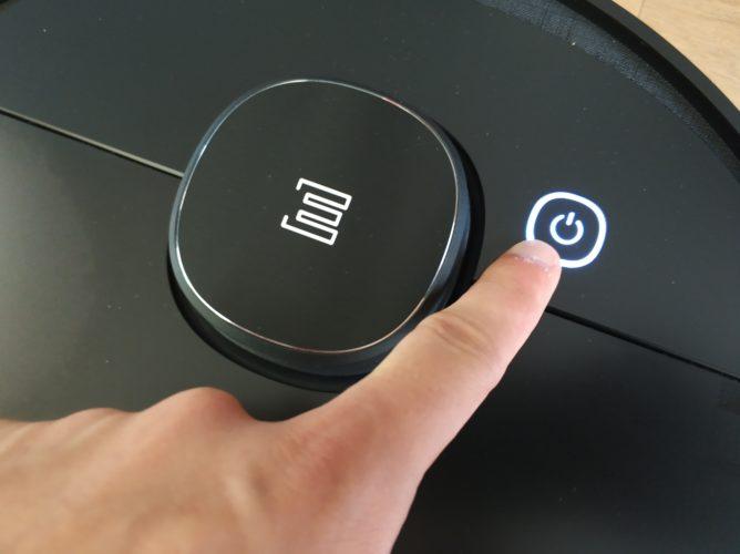 Botón de encendido/apagado del Ecovacs Deebot Ozmo 950