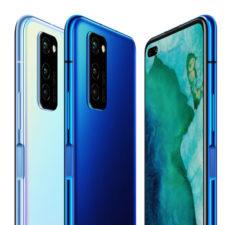 Honor V30 Pro en azul y en blanco