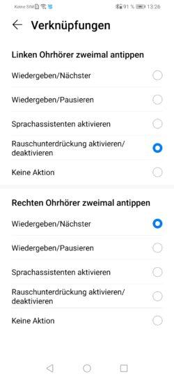 Personalizar las funciones táctiles de los FreeBuds desde la App
